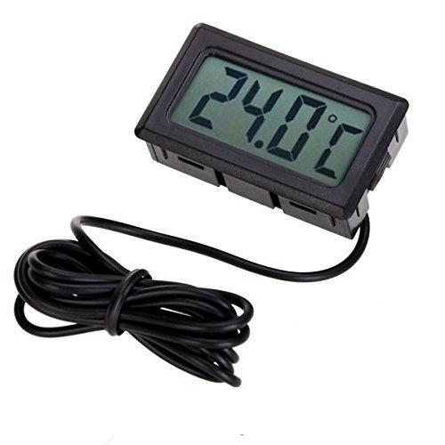 2x Unidades mini termómetro digital con Pantalla LCD con sonda externa para...