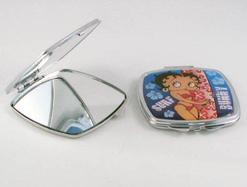 BETTY BOOP Miroir compact bleu Surf Betty sous licence officielle
