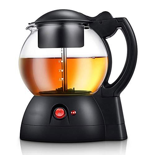 Acero inoxidable hervidor eléctrico Tetera eléctrica con filtro, vidrio inteligente tetera, té flojo Tetera, Tetera transparente con filtro 1000ML, apto for el té de frutas, la bolsita de té-negro 1,8