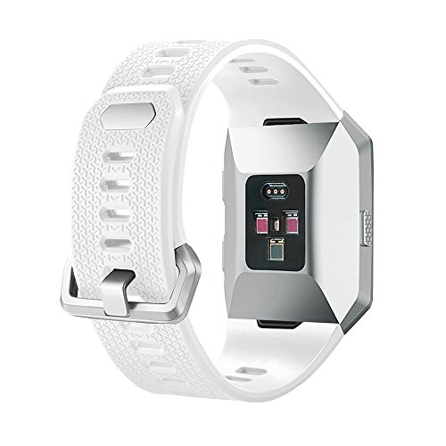 "Ztotop Fitbit Ionic Band, Adjustable Sport Silicone Accessory Band For Fitbit ionic smartwatch, White ( 6.7"" -8.1"")"