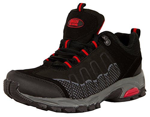 GUGGEN Mountain, Frauen Trekkingschuhe Damen Wanderschuhe Walkingschuhe Outdoorschuhe Outdoor Schuhe Softshell T002, Farbe Schwarz, EU 41
