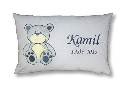 Amilian® Kissen 40 x 60 cm mit Namen Datum B8