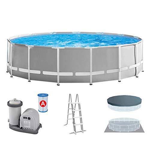 Verschiedene Größen von Wasserspeicherkapazität 4485L / 6503L / 16806L Halterung Pool, Fischteich, mit Filter,457 * 122cm