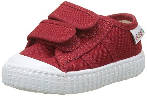 Victoria Basket Lona Dos Velcros, Zapatillas Unisex bebé, Rojo (Carmin), 18 EU