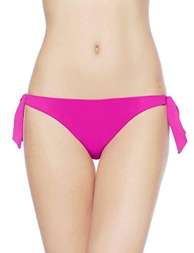 EONAR Laccetti Laterali Bikini Slip Sfacciato Brasiliano Bikini Bottom (XL,Black)