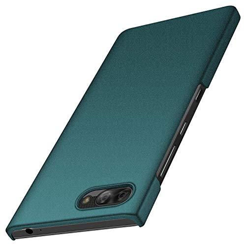 BlackBerry Key2 LE Hülle, Anccer [Serie Matte] Elastische Schockabsorption & Ultra Thin Design für BlackBerry Key2 LE (Kies Grün)