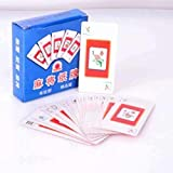 FEE-ZC hogar Creativo Oficina Mahjong Solitario - Premium - Mahjong Poker Paper Mahjong Playing Cards Travel Silent Soft Anestesia
