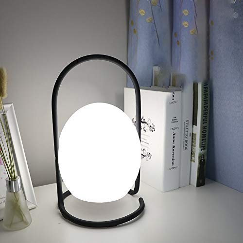 Liangsujian td - Lámpara de mesa LED de hierro, simple, mando a distancia, recargable, portátil, lámpara de mesa atractiva, luces nocturnas de mesa, proceso de chapado, bajos