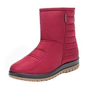 [IJGE] スノーブーツ メンズ レディース メンズ 防滑 防寒 滑らない スノーブーツ ウィンターブーツ スノーシューズ ダウンブーツ 防寒 スノーブーツ レディース 防水 26.0cm ウィンター ブーツ レディース スノーシューズ レッド 防寒 冬靴