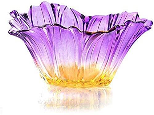 ZCRR Fruta Bueles Fruta Bandeja Fruta Bandeja Hogar Simple Estilo Europeo Moda Restaurante Cristal Cristal Fruta Plato Decoración Moderna(Color:B)
