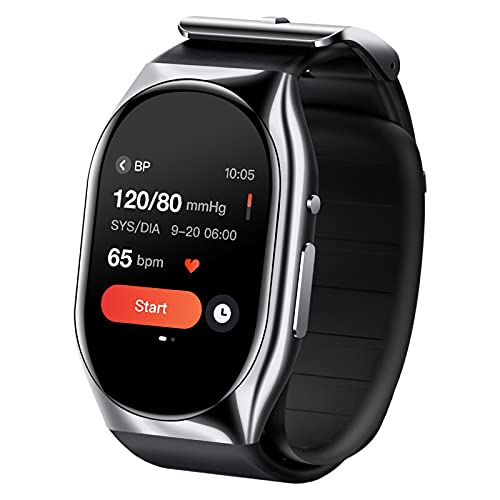 Accurate Blood Pressure Watch with Patented Inflatable Air Bags Cuff, YHE Portable Wrist Blood Pressure Monitor Smart Watch, Blood Oxygen and Heart Rate Monitors App Compatible with iPhone Android