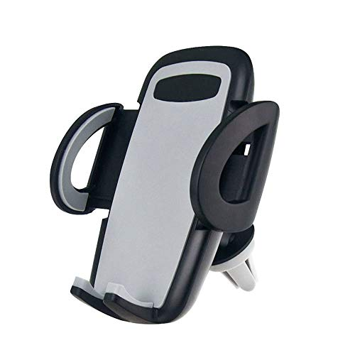 Soporte Celular Auto, Soporte de montaje de coches, 360 Rotating Air Vent Puerto movil soporte coche Mini Creative Navigation Car Mount Holder para todos los dispositivos iPhone y Android (Black)