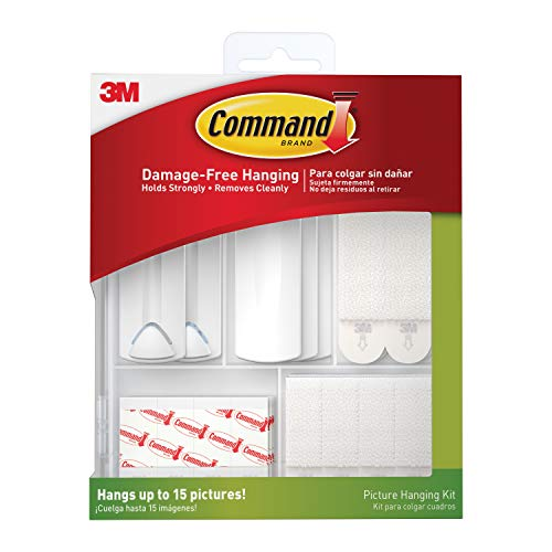 Mejor Command Universal Frame Hanger, Decorate Damage-Free, Large, 3 hangers, 6 strips, 6 frame stabilizer strips (17047-3ES),White crítica 2020