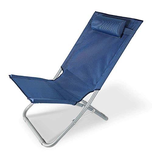 NMDD Sonnenliege, ultraleichter, klappbarer, tragbarer Liegestuhl, atmungsaktiv mit Nackenkissenstühlen für die Außenterrasse Garden Beach Pool Patio, B-95 * 49 * 32 cm