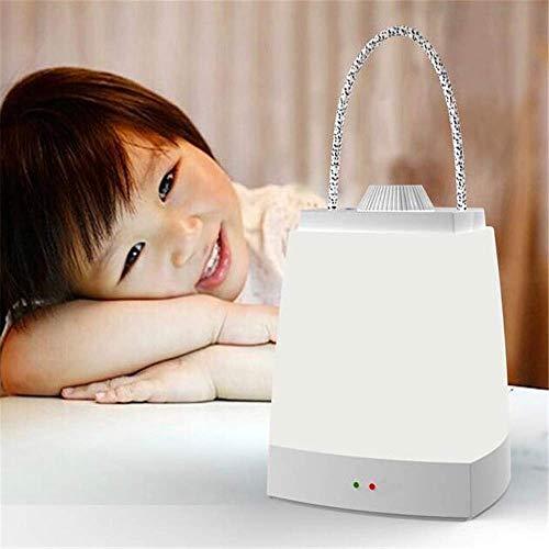 HYDD Energiesparende Tischlampe,Aufladen am Bett Schlaf Dimmen Timing Tragbares Nachtlicht Stromausfall Notfall B.