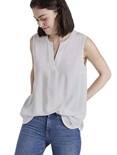 TOM TAILOR Denim Damen Tunika Top T-Shirt, 10332-Off White, XXL