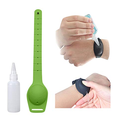 Fannyfuny Kinder Jugendliche Seifenspender Erwachsene Silicone Wristband Hand Dispenser Spender Flüssigseifen-Armband Travel Bottles Set, Refillable Cosmetic Containers
