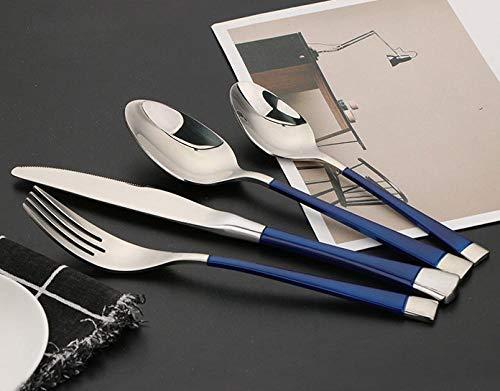 Besteck Set, 304 Edelstahl Messer Gabel und Löffel Titan plattiert 16 Stück Steak Besteck Perfekt für Den Täglichen Gebrauch/Feiertagsdinner/Party/spülmaschinengeeignet