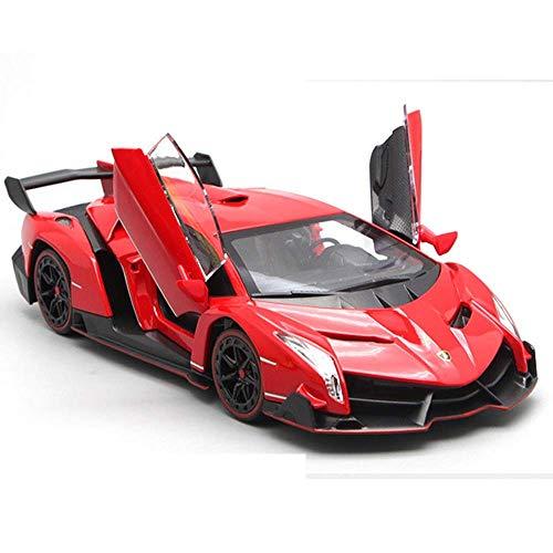 LKOER Modelo de automóvil, 1:24 Modelo de simulación de aleación de Autos Deportivos Adornos de Juguete de Juguete de Juguete de Juguete de joyería 20.5x9x4cm (Color: Amarillo) jinyang (Color : Red)
