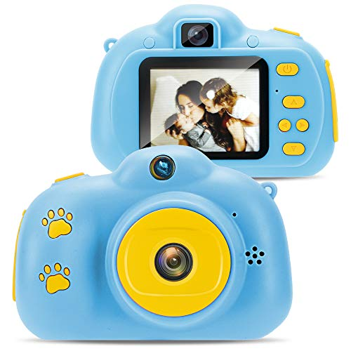 Yookeor Kids Selfie Camera Best Birthday Gifts for Boys Age 3-9, HD Digital Cameras for Toddler, Portable Toy for 3 4 5 6 7 8 Year Old Boy Girls with 32GB SD Card(Blue)