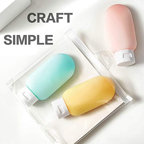 3 Pack Travel Bottles TSA Approved Containers, 2.05oz Leak Proof Travel Accessories Toiletries,Travel Shampoo And Conditioner Bottles,Perfect for Business or Personal Travel, Fun Outdoors