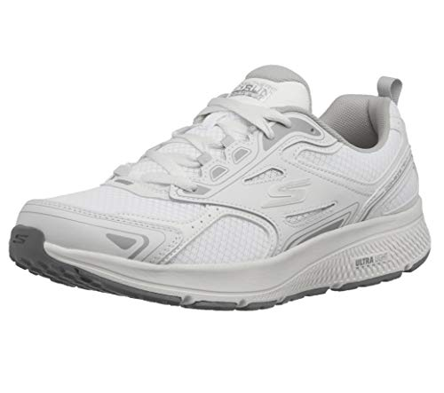 Skechers mens Go Consistent - Performance & Walking Running Shoe, White/Grey, 10.5 US