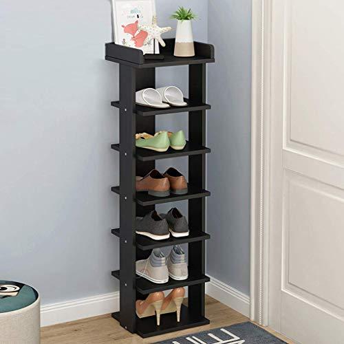B-fengliu 7 Niveles de Madera de Almacenamiento de Calzado estantes de Zapatos Organizador Celebrar Permanente, 9.8x10.6x40.9in (Color : Beige)