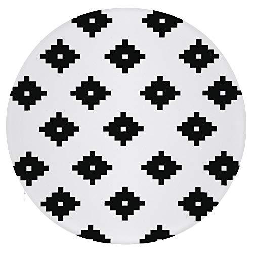 Tamengi - Cojín redondo para silla, cojín redondo de espuma viscoelástica para taburete, cuadrado, color negro