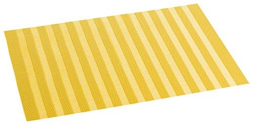 décorline set de table 30x45cm pvc ajoure garden jaune