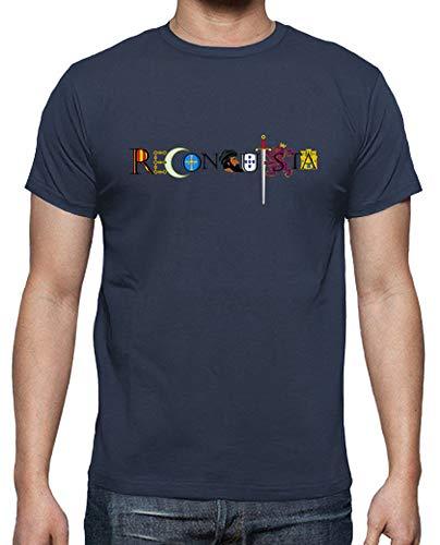 latostadora - Camiseta Reconquista Frase para Hombre Denim M