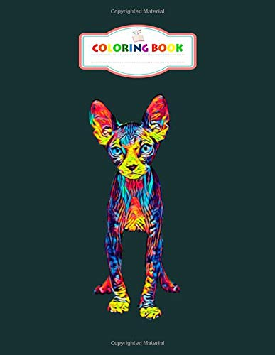 Coloring Book: sphynx cat vintage colored design best gift for animal lovers - For Kids Aged 2-8 100 pages 8.5x11 inches