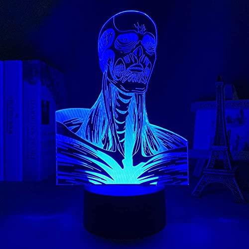 Anime Luz LED Ataque p & aring Titanio Colossus Titanio para Dormitorio Decoración Noche Luz Niños Cumpleaños Presente Manga Shingeki No Kyojin 16 Colores