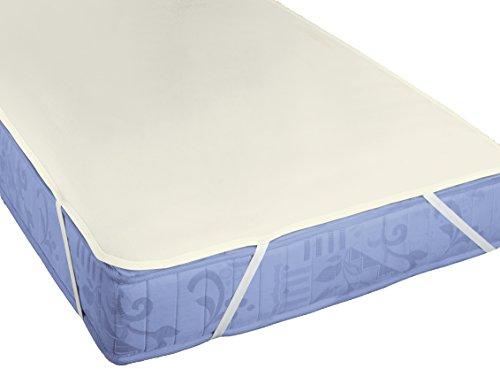 biberna Sleep & Protect Sanfor Ausrüstung Molton Matratzenauflage, Baumwolle, kakao, 100x200 cm