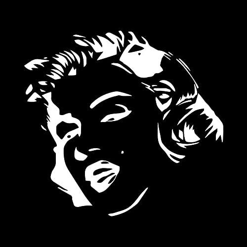 Wzjh 16 cm X 14.7cm Marilyn Monroe Decal de Coche Vinilo Pegatinas de Ventanas de automóviles Accesorios de Estilo (Color Name : White)