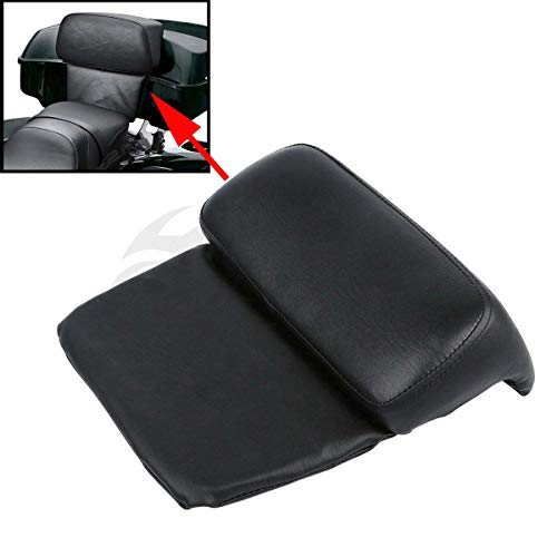 XFMT Razor Chopped Tour Pack Backrest Pad Compatible with Harley Touring Road King Street Glide