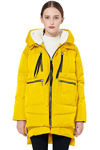 Orolay Chaqueta de Plumón Gruesa con Capucha para Mujer Amarillo 5XL