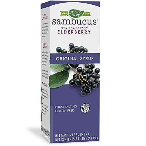 Nature's Way Original Sambucus Elderberry Syrup, Herbal Supplements,...