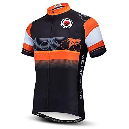 Maillot de ciclismo de manga corta para hombre - Naranja - Large