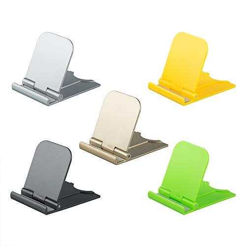 AIFUDA 5 Piezas Plegable Soportes para teléfonos celulares, Portátil Soporte para teléfono...