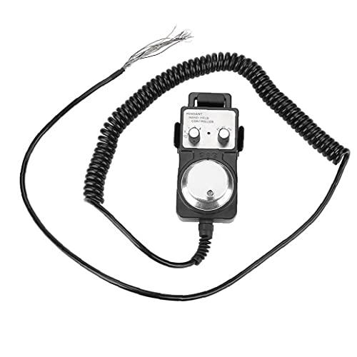 Volante de pulso de Máquina-Herramienta CNC Generador colgante Volante electrónico 5V con la base del sostenedor Negro