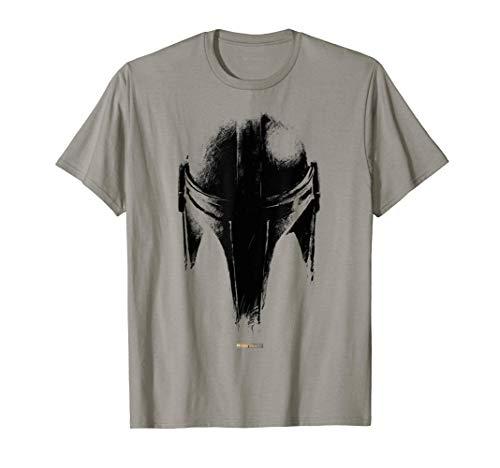 Star Wars The Mandalorian Dark Helmet Sketched T-Shirt