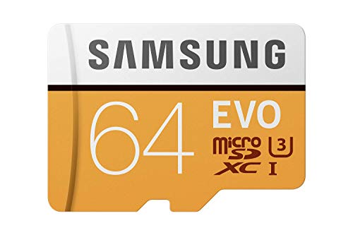 Samsung EVO Grade 3, Class 10 64GB MicroSDXC 100 MB/S Memory Card with SD Adapter (MB-MP64GA/IN)