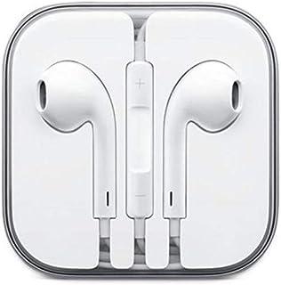 سماعة اذن مع مايكروفون وتحكم لاجهزة ايفون 5 5 جي ولكل انواع الهواتف- ابيض