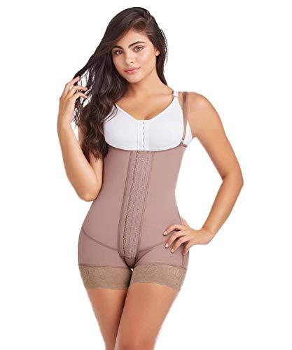 Fajas DPrada 11106 Backless Body Shaper - Fajas Colombianas Bridal Shapewear, Cocoa-optic, Small