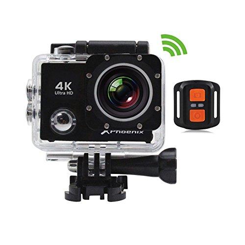 Phoenix Technologies - Vídeo cámara sport Pantalla LCD 2' Wi-Fi 4K interpolated 30fps hasta 16mpx HDMI IPX8 30 m. Control remoto 2.4Ghz Android e iOS