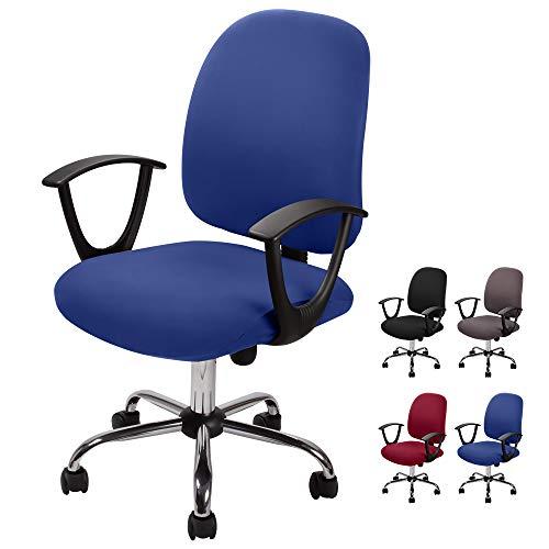 Bezug für Bürostuhl Bürostuhl-Bezug Waschbarer elastischer Sitzbezug Computer-Bürostuhl Bezug Universal Stuhl Bezüge Drehstuhl Bezüge Set für Bürostuhl Computer Stuhl Armlehnen Stuhl (Blau, 2)