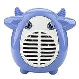 Pillows-RJF Calentador Eléctrico con Mini Ventilador Lindo, Calentador De Espacio Personal Portátil, Calentamiento Rápido En 3 Segundos, Protecciones Múltiples, Interruptor De Un Botón