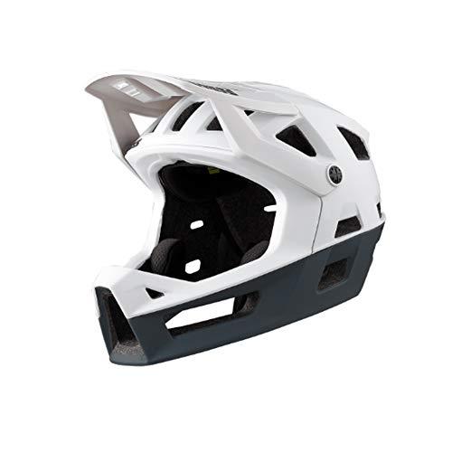 IXS Trigger FF - Casco Integral de Bicicleta de montaña para Adulto, Unisex, Color Blanco, SM (54-58 cm)