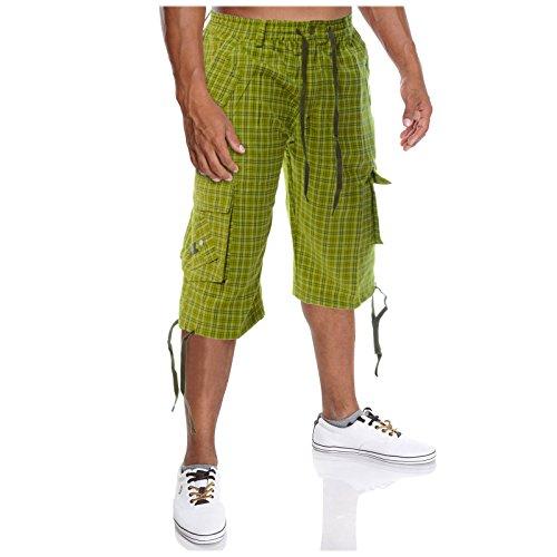 BEZLIT Herren Bermuda Shorts in Kartierter Optik H2073 Mintgrün Größe XXL