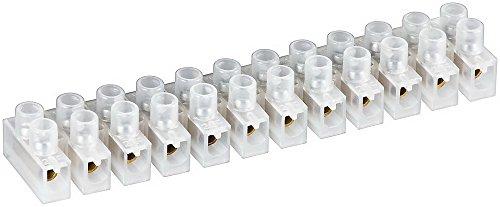 Preisvergleich Produktbild Lüsterklemme ,  transparent weiß 12er Reihe mit doppelter Schraubklemme LÜK 4 4mm² max.3A